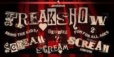 New free font 'Freakshow' by Sharkshock · Free for personal use · #freefont #font #freefont