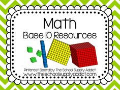 Base 10 Pin Board by The School Supply Addict