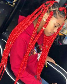 Colored Box Braids, Big Box Braids, Blonde Box Braids, Box Braids Styling, Black Girl Braids, Braided Hairstyles For Black Women, Braids For Black Hair, Braids Hairstyles Pictures, African Braids Hairstyles