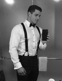 Hot Rugby Players, Mens Braces, Smart Men, Groom Attire, Groom Suits, Tuxedo For Men, Dapper Men, Mens Fashion Suits, Groom Style
