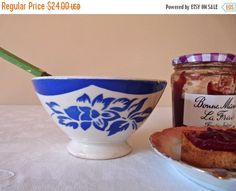 ON SALE for a week cafe au lait bowl Cafe Au by myfrenchycottage
