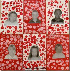 A la manière de Kusama Yayoi Kusama, Kindergarten Art, Preschool Art, Art History Memes, Dot Day, School Art Projects, School Ideas, Ecole Art, Valentines Art