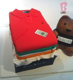 Base of cake is a stack of polos