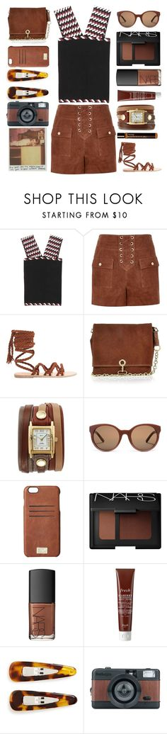 """Black and brown"" by juliehalloran ❤ liked on Polyvore featuring Christopher Kane, River Island, Ancient Greek Sandals, La Mer, Tory Burch, HEX, NARS Cosmetics, Fresh, France Luxe and Aesop"