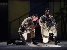 Bruce McKenzie as Iago and Billy Eugene Jones as Othello in Othello, 2005. #calshakes40th