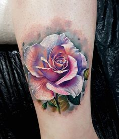 Rose tattoo by Marek Hali Perfect 3 colors realistic tattoo works of Rose motive done by tattoo artist Marek Hali Colorful Rose Tattoos, Coloured Rose Tattoo, White Rose Tattoos, Hand Tattoos, Flower Tattoos, Body Art Tattoos, Key Tattoos, Butterfly Tattoos, Side Tattoos