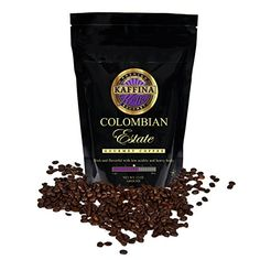 Kaffina Kaffe Premium Gourmet Ground Coffee  Single Origin  Medium Roasted Colombian Estate Coffee12 oz * Learn more by visiting the image link.