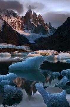 Moonlight. Laguna Torre, Patagonia, Argentina