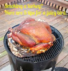 Smoking a Turkey this Thanksgiving? Here are 5 easy tips for a Smoking a Turkey this Thanksgiving? Here are 5 easy tips for a juicy and beautiful bird: carolinasaucecomp Source by Sgionetbowland Grilling Recipes, Meat Recipes, Chicken Recipes, Smoker Turkey Recipes, Bbq Chicken, Fried Chicken, Dinner Recipes, Bbq Turkey, Smoked Turkey Brine