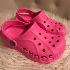 1c71250fef 39 Best Pink crocs and stuff images