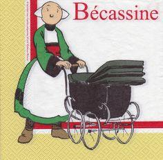 Serviette Bécassine et le Landau