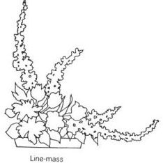 Line mass arrangement