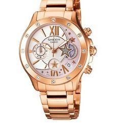 Sheen SHN-5508GD-7A Steel Band Gold Starry Sky Watch For Women -commodityocean.com