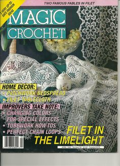 Magic Crochet Magazine April 1993 Thread crochet