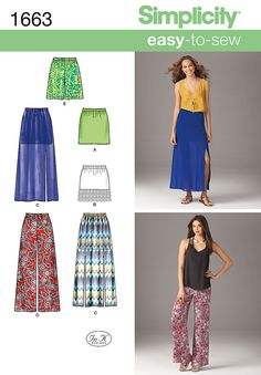 Simplicity Creative Group - Misses' Easy to Sew Skirts & Pants