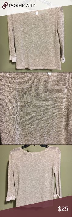 Glitter thread knit Semi sheer grey and gold knit. I'm excellent condition. Tops