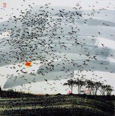 汪钰元作品 Contemporary Paintings, Art Painting, Landscape Paintings, Chinese Art Painting, Illustration Artwork, Painting, Chinese Contemporary Art, Art, Learn Watercolor