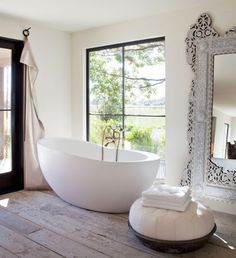 Compromise between my French country tub and his modern taste