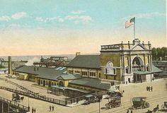 Union Station OMAHA Nebraska Vintage Postcard 1925 from TheOldBarnDoor on Etsy