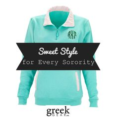 The great thing about Greek life is getting the chance to sport your letters everywhere you go. Find your sorority style at Greek Gear, where all of your sorority apparel needs are in one place!