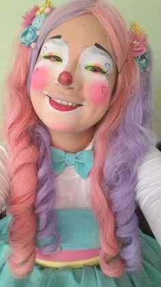 Clown Pics, Cute Clown, Female Clown, Girls Makeup, Clowns, Clown Makeup, Imperial Crown