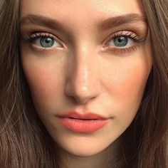 Regram from @leahlaniskincare of this #naturallygorgeous model wearing our Satin Matte Blush in Honey Rose.