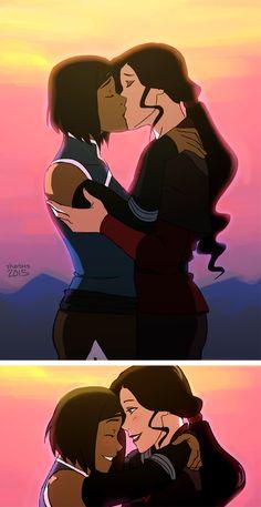 """KorrAsami / Korra x Asami Sato | Avatar the legend of korra lok | Canon Yuri kiss OTP"""