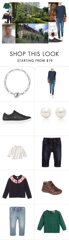 """""""Exploring the gardens of the Chateau with the kids in the morning"""" by marywindsor ❤ liked on Polyvore featuring M.i.h Jeans, Lacoste, Tiffany & Co., Petit Bateau, Sebastian Professional, Il Gufo, Primigi and Giorgio Armani"""