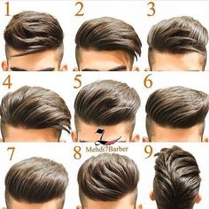 Same hair different hairstyles - HerrenMode - Cheveux Latest Hairstyles, Hairstyles Haircuts, Haircuts For Men, Barber Hairstyles, Amazing Hairstyles, Fashion Hairstyles, Elegant Hairstyles, Short Hair Cuts, Short Hair Styles