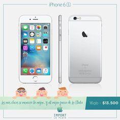 En el día del niño, regalales lo mejor y al mejor precio de La Plata.  Iphone 6S de 16 GB a tan solo $ 13.500. Garantía escrita / Se retira por nuestra oficina comercial en La Plata / Consultas por INBOX o Whatsapp 022-136-14436  iPhone 5s 16 4g $8.800 iPhone 5s 16 3g $7.500 iPhone se 16 sin caja $9.600 iPhone se 16 $10.700 iPhone 6 16 $11.700 iPhone 6 64 $13.200 iPhone 6 128 $14.500 iPhone 6s 16 $13.500 iPhone 6s 64 $15.400 iPhone 6s 128 $17.100 iPhone 6 plus 16 $13.000 iPhone 6 plus 64…