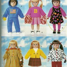 Butterick 5604 Doll Clothes Pattern for 18 Inch Dolls by mbchills, $8.00