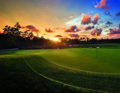 Sunset at The Legends, an Arnold Palmer designed golf course at Holiday Inn Club Vacations at Orange Lake Resort.