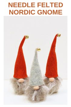 These delightful Tomte gnomes will add charm to your Autumn and Christmas decorations. Each gnome is carefully hand crafted from British breeds wool. Merry Little Christmas, Felt Christmas, Christmas Crafts, Christmas Things, Christmas Ideas, Xmas, Christmas Ornaments, Needle Felting Kits, Needle Felting Tutorials