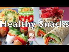 Schnelle & GESUNDE Snacks - Vegetarisch - YouTube