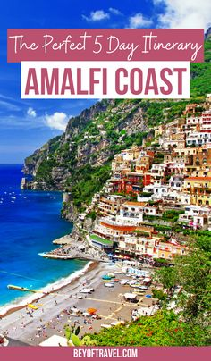 The Perfect 5 Day Amalfi Coast Itinerary | amalfi coast italy | amalfi coast italy things to do | amalfi coast italy things to do bucket lists | amalfi coast italy things to do beautiful places | amalfi coast italy things to do what to do | amalfi coast italy itinerary | amalfi coast itinerary | 5 day amalfi coast itinerary | amalfi coast itinerary travel tips | what to do in amalfi coast | what to do on the amalfi coast | amalfi coast travel guide | #amalficoast #amalficoastitaly Italy Travel Tips, Europe Travel Guide, Travel Info, Italy Coast, Amalfi Coast, Italy Destinations, Italy Trip, Southern Italy, Visit Italy