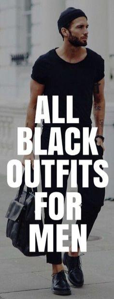 All BLACK CASUAL Outfit Ideas For Men #mensfashion #fashion #style #fallfashion