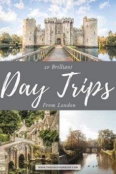 Travel from London with these 20 cool day trips in the United Kingdom. Let's go! #greatbritain #travel #daysout #traveldestinations