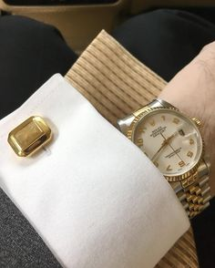 """Enhance prosperity and good fortune with """"Elite & Luck"""" Golden Rutile Quartz Sterling Silver Cufflinks, 18K Yellow Gold plated, Elite Model Available now at www.eliteandluck.com"""