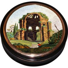 The Temple of Minerva Medica micromosaic snuff box