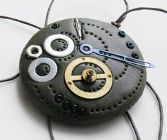 Cool steampunk clay creation. Image only.