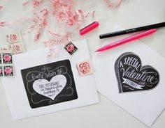 This series of whimsical, printable labels by Valerie McKeehan will make every package and card even more special this Valentine�s Day. Each design is hand drawn in chalk then photographed to produce a 100% authentic chalkboard look. Hand write the recipient�s name on the label or use the editable PDF ...