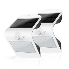 Honesteast Solar Lights Outdoor Security Lighting Solar Powered Motion Sensor Wall Light (White-2 Pack) - Light your way home. The HonestEast Solar light can be used in all areas without electricity that has full sunlight such as Balcony, Windows, Gate, Wall, Porch, Passage, Alley, Pavilions, Buildings, Block, Outdoor garden decoration,Country lane etc. Design Patent Unique curved appearance, simplif...