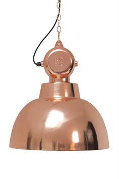 """Products details - Voorverkoop Nieuw! - industriële lamp """"Factory"""" L koper"""