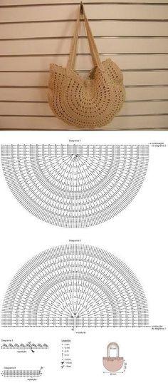 Crochet basket diagram ganchillo 16 ideas for 2019 Crochet Diy, Love Crochet, Crochet Ideas, Simple Crochet, Crochet Diagram, Crochet Chart, Crochet Stitches, Crochet Handbags, Crochet Purses