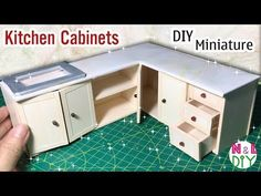 DIY Miniature Kitchen Cabinets | How to make Kitchen Cabinets for Dollhouse - YouTube