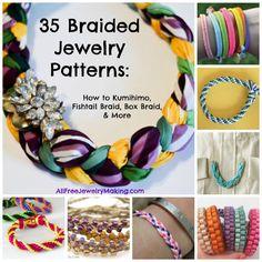 35 Braided Jewelry Patterns: How to Kumihimo, Fishtail Braid, Box Braid, and More