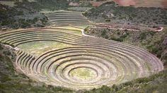 Moray is an archaeological site in Peru approximately 50 km mi) northwest of… Machu Picchu, Places Around The World, Around The Worlds, Nazca Lines, Argentine, Ancient Buildings, Mysterious Places, Ancient Ruins, Archaeological Site
