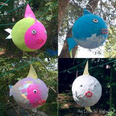 DIY Paper Mache Fish ~ Under the Sea Birthday Ideas