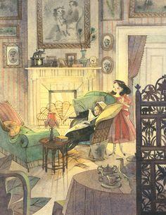 Alive as Always; Nathalie Ragonde. Illustration for A little princess by Frances Burnett :)