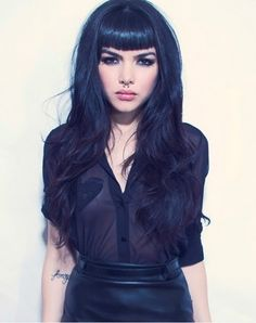 alternative, bangs, beautful, black, black hair